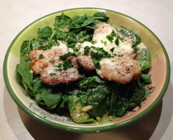 Chicken and Greens with Garlic Sauce
